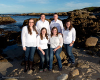 Howard Family Portraits at Asilomar Cove, Pacific Grove