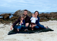 Harley Family at Asilomar Cove, Pacific Grove